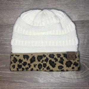 C.C leopard beanie NWOT